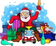 Papá Noel bebió el alcohol stock de ilustración