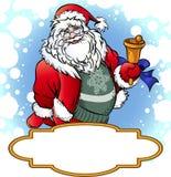 Papá Noel con Bell Imágenes de archivo libres de regalías