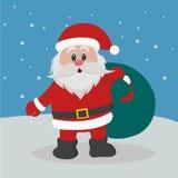 Papá Noel con el bolso de presentes Imagen de archivo libre de regalías