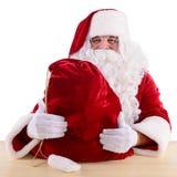 Papá Noel con el bolso grande Fotografía de archivo libre de regalías