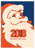 Papá Noel con el ejemplo minimalistic del vector de la barba libre illustration