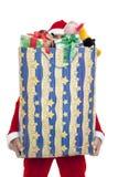 Papá Noel con el regalo Imagen de archivo