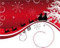 Papá Noel con el reno Imágenes de archivo libres de regalías