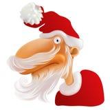 Papá Noel con la barba blanca stock de ilustración
