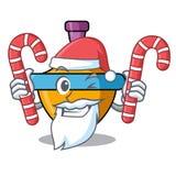 Papá Noel con la historieta de la mascota del top de giro del caramelo Fotografía de archivo libre de regalías