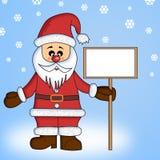 Papá Noel con la tarjeta para el texto Imágenes de archivo libres de regalías