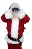 Papá Noel con los prismáticos Imagen de archivo libre de regalías