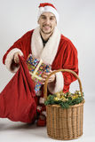 Papá Noel con los regalos Imagen de archivo libre de regalías