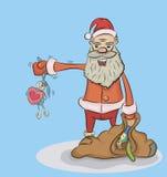 Papá Noel con los regalos Imagenes de archivo