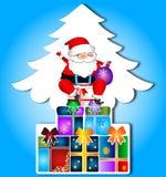 Papá Noel con los regalos de la Navidad Imagenes de archivo