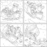 Papá Noel con los regalos de la Navidad ilustración del vector