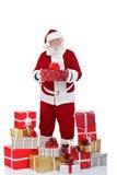 Papá Noel con muchos presenta Imágenes de archivo libres de regalías