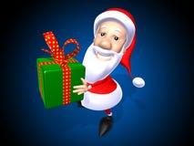 Papá Noel con un regalo foto de archivo