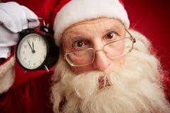 Papá Noel desconcertado Imágenes de archivo libres de regalías