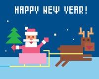 Papá Noel divertido Imagen de archivo