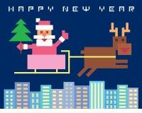 Papá Noel divertido Imagen de archivo libre de regalías