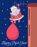 Papá Noel divertido Fotografía de archivo libre de regalías