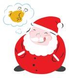 Papá Noel divertido hambriento stock de ilustración