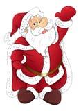 Papá Noel - ejemplo del vector de la Navidad Imagen de archivo libre de regalías
