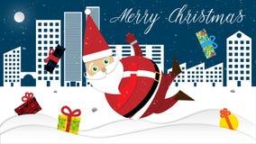Papá Noel en apuro Fotografía de archivo libre de regalías
