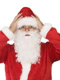 Papá Noel en blanco con el camino Foto de archivo libre de regalías
