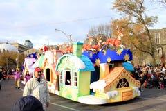 Papá Noel en el desfile de la Navidad en Toronto Fotos de archivo libres de regalías