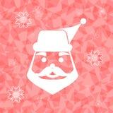 Papá Noel en fondo deslumbrado del triángulo Imagenes de archivo