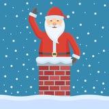 Papá Noel en la chimenea ilustración del vector