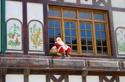 Papá Noel en la ciudad más situada más al sur del mundo Fotos de archivo libres de regalías