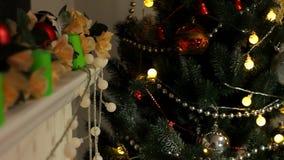 Papá Noel en la Navidad almacen de metraje de vídeo