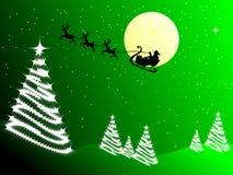 Papá Noel en trineo Imagen de archivo