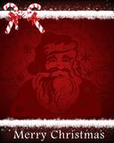 Papá Noel en un trineo Imágenes de archivo libres de regalías