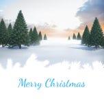 Papá Noel en un trineo Fotografía de archivo libre de regalías