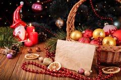 Papá Noel en un trineo Imagenes de archivo