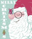 Papá Noel en un trineo imagen de archivo libre de regalías
