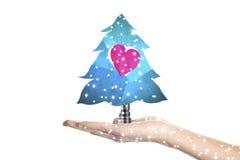 Papá Noel en un trineo Foto de archivo libre de regalías