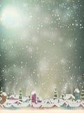 Papá Noel en un trineo EPS 10 Fotos de archivo libres de regalías