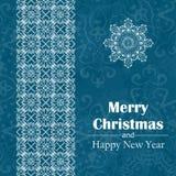 Papá Noel en un trineo Fondo abstracto de la Feliz Año Nuevo Inscripción dibujada mano Ilustración del vector Imágenes de archivo libres de regalías