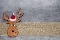 Papá Noel en un trineo Fondo del gnomo de Noel Símbolo de la Navidad Imagen de archivo