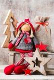 Papá Noel en un trineo Fondo del gnomo de Noel Símbolo de la Navidad Fotos de archivo