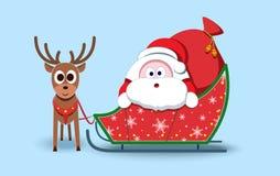 Papá Noel encantador Símbolo de la Navidad Carácter estilizado Nuevo YE Fotos de archivo