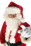 Papá Noel está señalando Foto de archivo libre de regalías