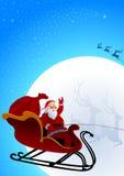 Papá Noel está viniendo a la ciudad libre illustration
