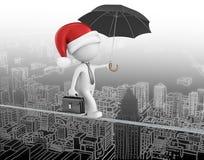 Papá Noel está viniendo a la ciudad Imágenes de archivo libres de regalías