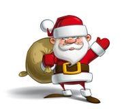 Papá Noel feliz AI libre illustration