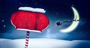 Papá Noel firma adentro el Polo Norte stock de ilustración