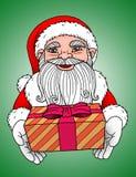 Papá Noel - fondo verde Imágenes de archivo libres de regalías