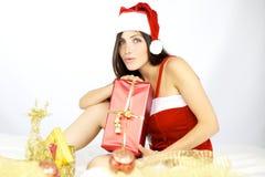 Papá Noel hermoso listo para la Navidad Imagenes de archivo