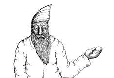 Papá Noel _2 Ilustración drenada mano stock de ilustración