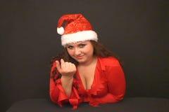 Papá Noel llama un finger a sí mismo almacen de metraje de vídeo